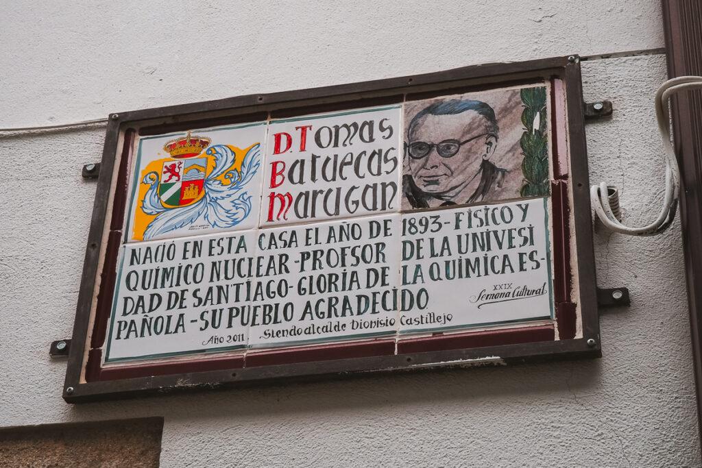 Casa natal del químico español TomásBatuecas