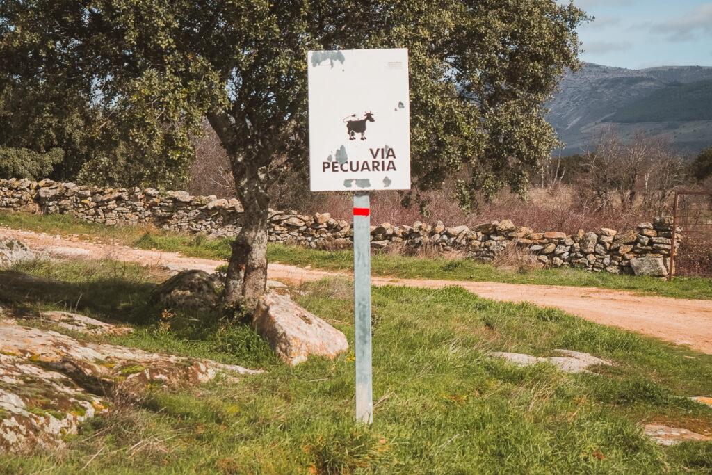 Vías pecuarias en el Embalse del Villar
