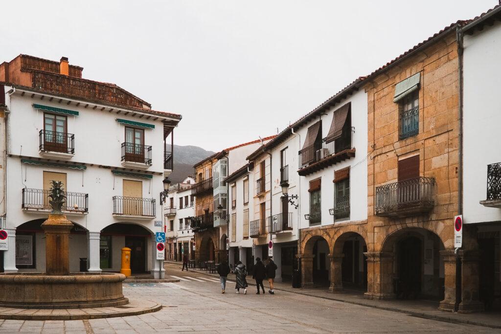 Plaza de la Corredera de Hervás