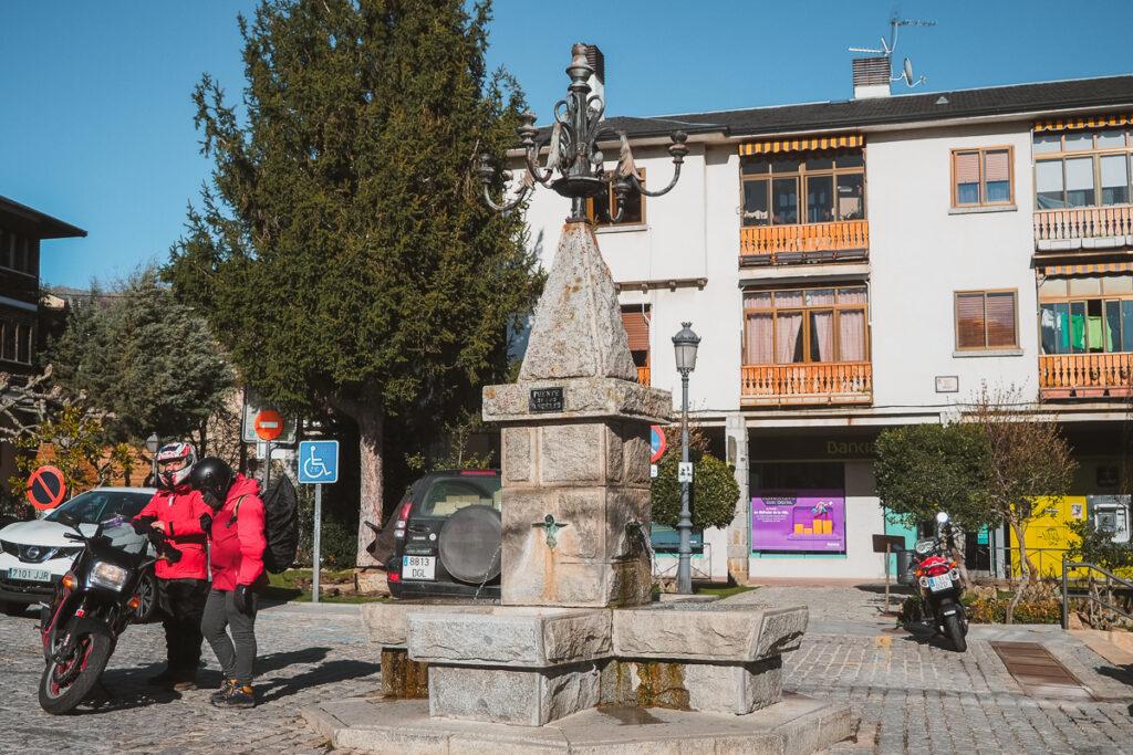 Fuente de los Ángeles en Navacerrada