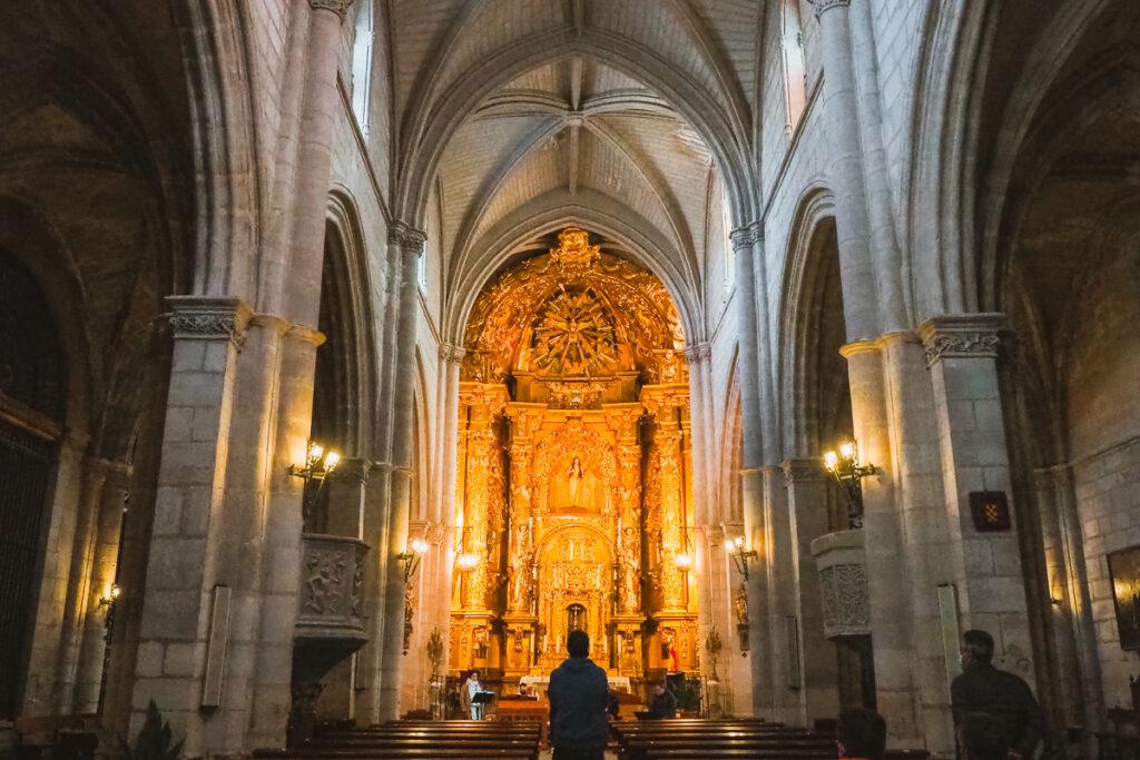 Interior de la Iglesia de Santa María Magdalena en Torrelaguna